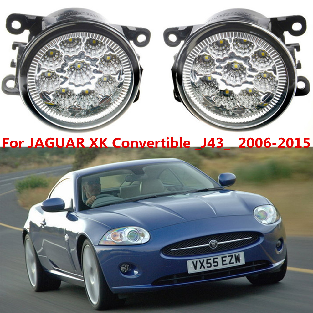 For JAGUAR XK Convertible _J43_  2006-2015 Car styling LED fog Lights high brightness fog lamps 1set for jaguar s type 1999 2008 led lamps fog light lights car styling 1 set
