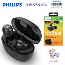 필립스 SHB2505 HIFI 무선 이어폰 형 헤드셋 Bluetooth 5.0 휴대용 충전 상자가있는 지능형 소음 감소 공식 테스트