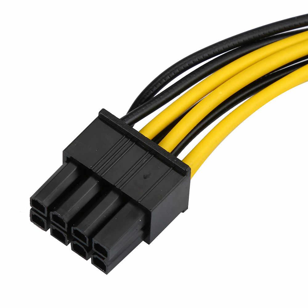 6 ピンに 8 ピンの PCI Express 電源変換ケーブル gpu ビデオカード PCIE PCI-E ドロップ船 # T3L2N
