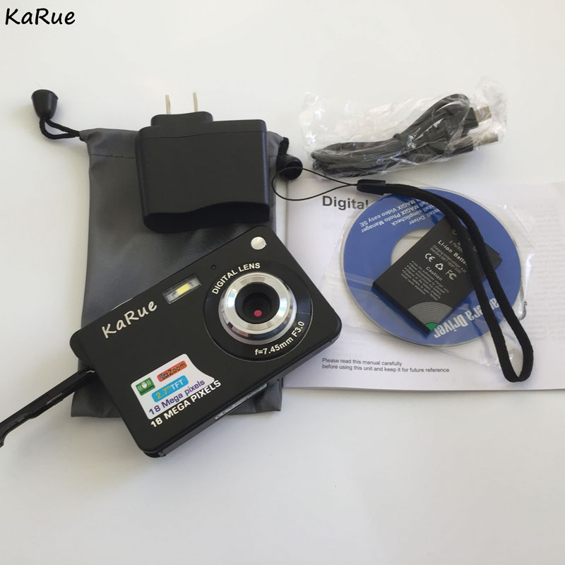 KaRue DC-530I Digital Camera Max 18MP Home Camera Digital Video Camera 2.7 Inch 8X Digital Zoom Mini Camera free S
