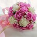 SoAyle New Brides Bouquet Simulation Don't Fade Hand 26cm Bouquet Pink Wedding Bouquet Giving a corsage wrist flowers