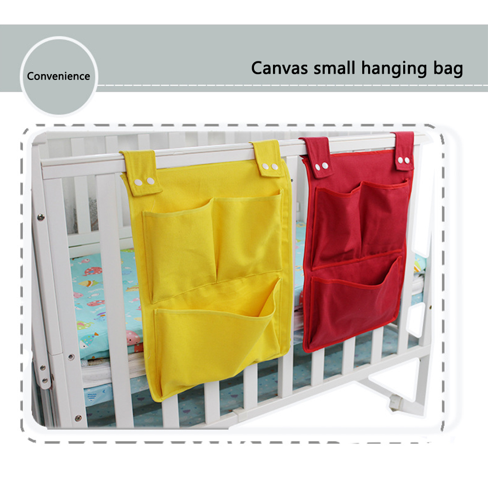 Storage Bag Hanging Foldable Bedding Clothes Portable Toy Home Crib Organizer Diaper Pocket Baby Cot Nursery Multifunction