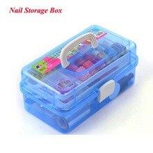 Professional Multi layer Nail Art Storage Kit for Nail Gel Manicure scissors kit trimmer cuticle nipper set nail tool Box
