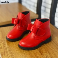 Size 26 36 Children Snow Boots Kids Shoes For Girls Winter Fashion Plush Boot 2017 Autumn