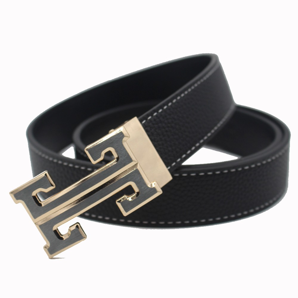 designer h belt u1iw  2016 casual brand letter H buckle designer belts men high quality strap  male Genuine leather ceinture