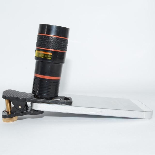 Universal Cámara de 8X Zoom Óptico Del Telescopio Lente de Teléfono Móvil Para LeTV 1 1 s pro max para oneplus 1 2 x lentes de vidrio + metal