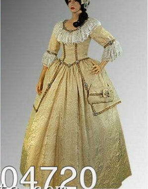 55d6bfd632d 1800S Civil War Southern Belle Ball Gown Gold Ladies Dress-in ...
