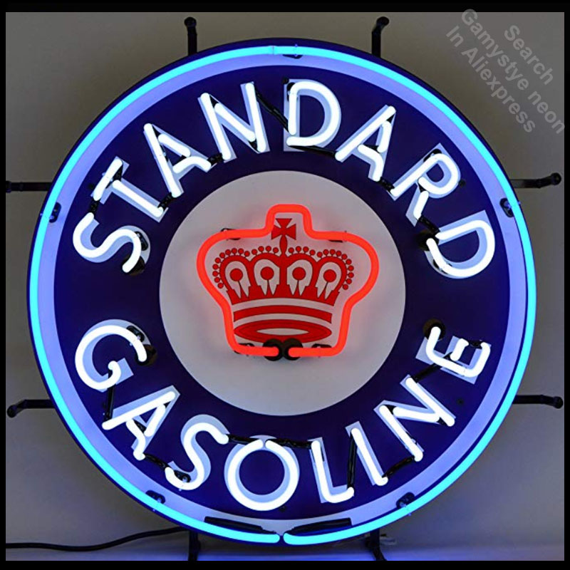 Neon Sign Standard Gasoline neon Light Sign Paint Beer Bar Pub Sign Handcrafted wall Hotel Neon signs for sale DropshippingNeon Sign Standard Gasoline neon Light Sign Paint Beer Bar Pub Sign Handcrafted wall Hotel Neon signs for sale Dropshipping