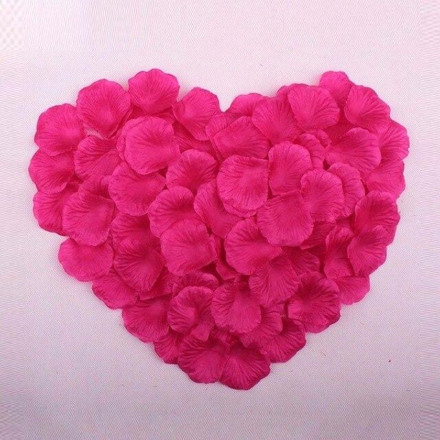 2000 шт. / партия 5* 5 см шелковые лепестки роз на свадьбу, Романтические искусственные лепестки роз Свадебные розы - Цвет: Rose Red