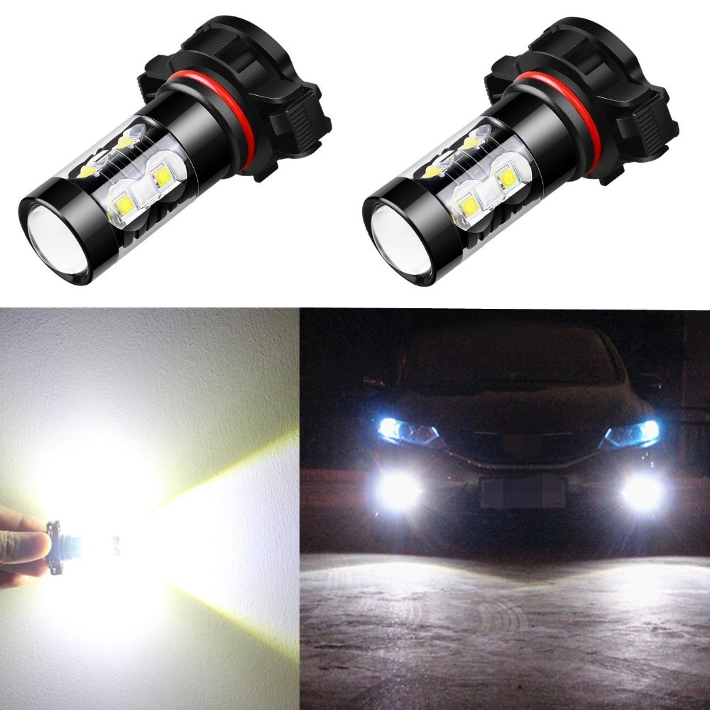 2pcs 50W PSX24W H27 <font><b>H16</b></font> <font><b>5202</b></font> <font><b>LED</b></font> Fog Light H11 H8 H9 H10 880 881 Auto Car Bulb 12V White Auto Car Projector Lamp Lighting image