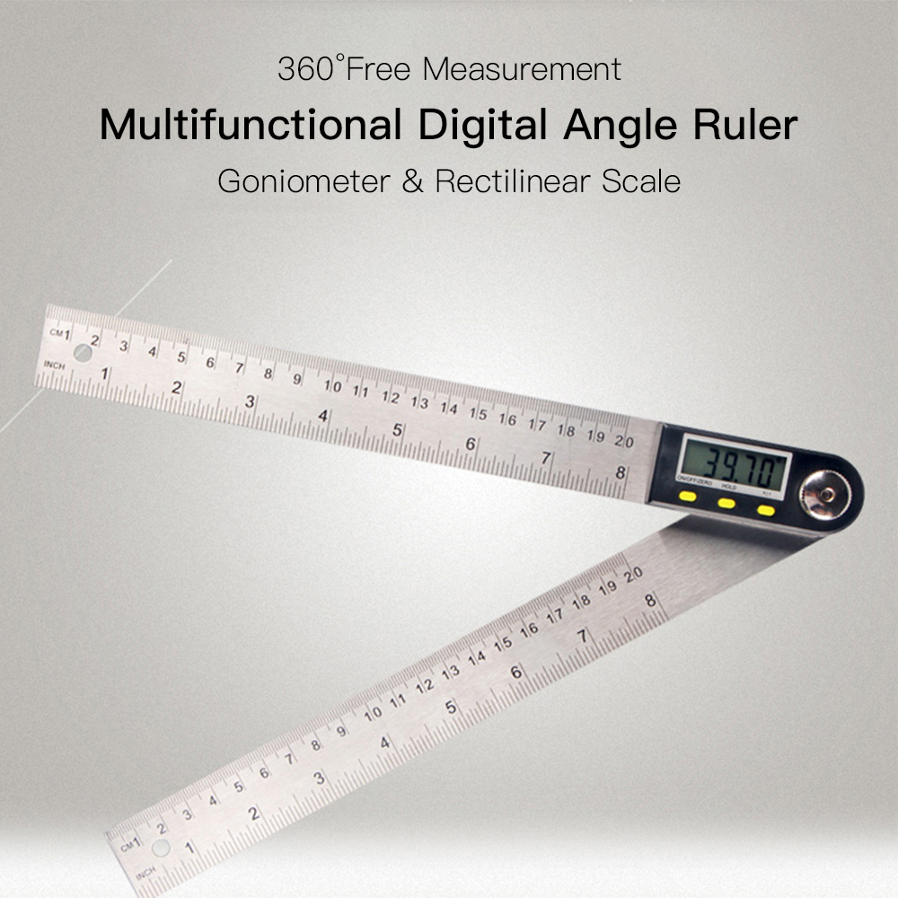 Digital LCD Angle Ruler 360 Degree Stainless Steel Electronic Protractor Goniometer Measuring Tool angle meter Hold Zeroing Func цены