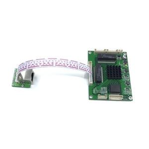 Image 5 - Industrial grade mini 3/4/5 port full Gigabit switch to convert 10/100/1000Mbps Transfer module equipment weak box switch module