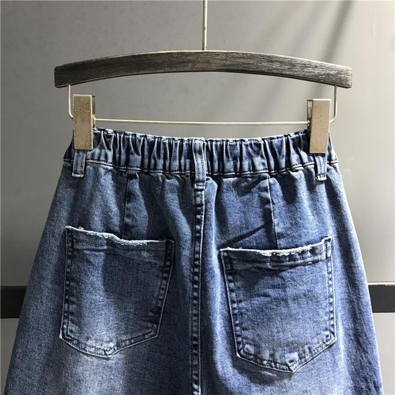 Elastique Lâche Venir Pantalon Jeans Taille Denim Stretch Haute Bleu Nouveau Décontracté Femmes K508 Femelle zx1HnP