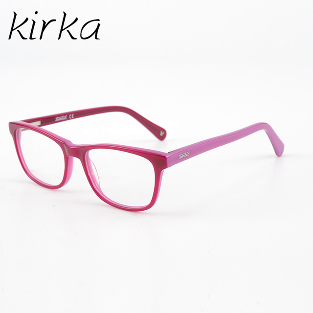 Kids Boys Girls Myopia Acetate Glasses Frame Pink Color Fashion Eyeglasses  Frames High Quality-in Eyewear Frames from Men\'s Clothing & Accessories on  ...