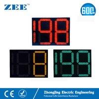 Светофор таймер обратного отсчета 2,5 цифры 3 цвета Трафика сигнал обратного отсчета 0 199 секунд