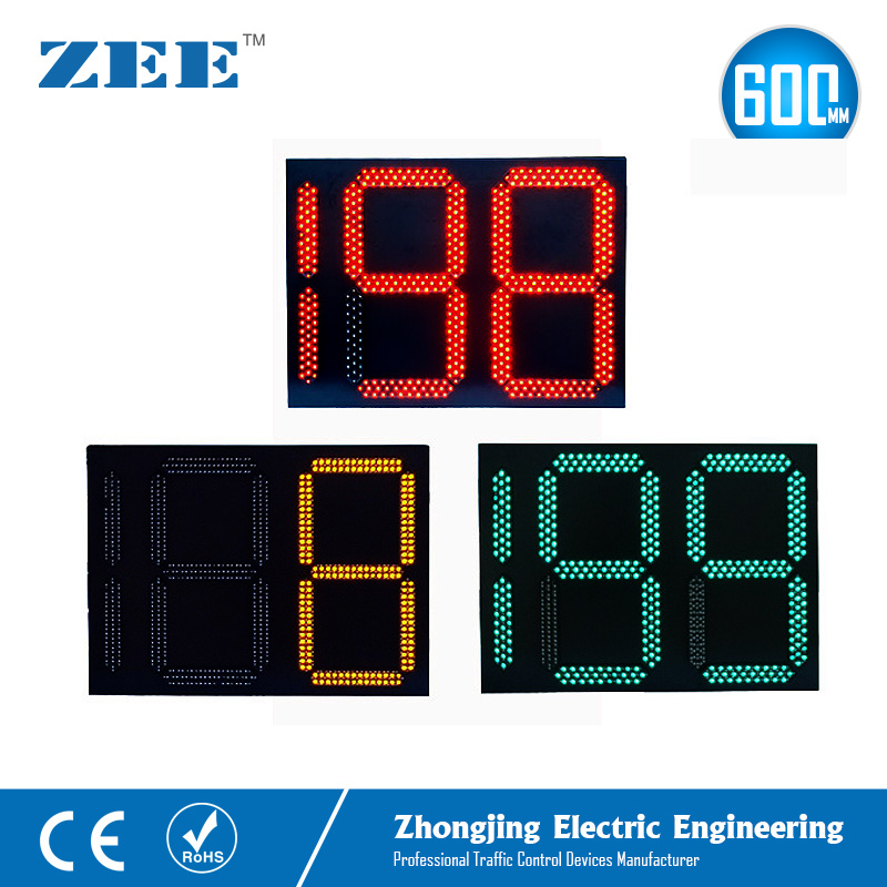 Traffic Light Count Down Timer 2.5 Digits 3 Colors Traffic Signal Countdown 0-199 Seconds