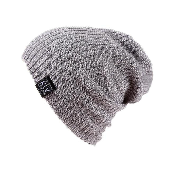 cc998b2313a 2016 KLV Brand Winter Knitted Warm skating hat Men caps skullies and beanies  for men women