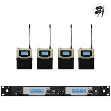 Novo! no Monitor de Ouvido Sem Fio de Atualização Do Sistema SR2050 Duplo Monitoramento Profissional para o Desempenho Do Estágio 4 receptores transmissor