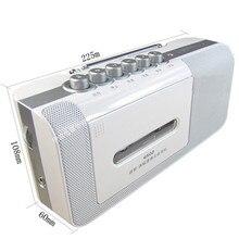 Portátil FM/MW rádio AC/DC dual-uso de energia gravador jogador retro tape drive transmissão máquina de semicondutores microfone embutido