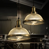 Retro Loft Style Iron Glass Edison Pendant Light Fixtures For Dining Room Hanging Lamp Vintage Industrial