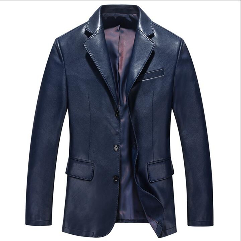 2016 spring and autumn new leather suit jacket male fashion men ...