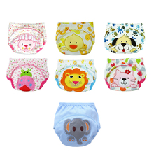 Training Pants Cotton Reusable Baby Diapers Waterproof Cloth Nappies Washable Diapers Bamboo Learning Pants NK02
