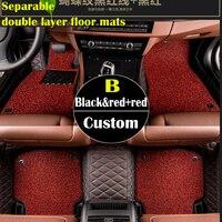 Separable double layer custom car floor mats for Cadillac ATS XTS SRX SLS Escalade car styling 3Dcarpet floor liner