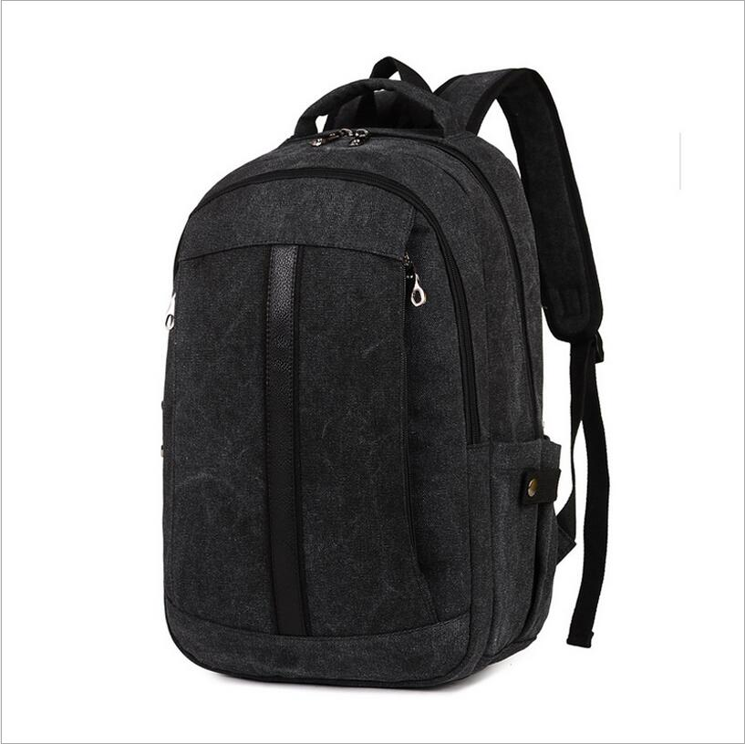 2016 Men Male Canvas Backpack College Student School Backpack Bags for Teenagers Vintage Mochila Casual Rucksack