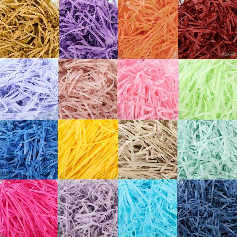 10g per bag DIY Paper Raffia Shredded Paper Confetti Gift Box Filling Material Christmas Wedding Marriage Home Decoration 62456