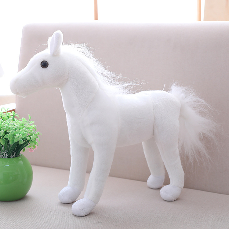 cute plush simulation horse toy stuffed white horse doll gift about 40cm s1952