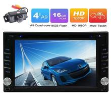 Double 2Din Android 6.0 Car Stereo DVD Player In Dash GPS Navigation Headunit Car Deck Radio Support WiFi/OBD2/Mirrorlink+Camera