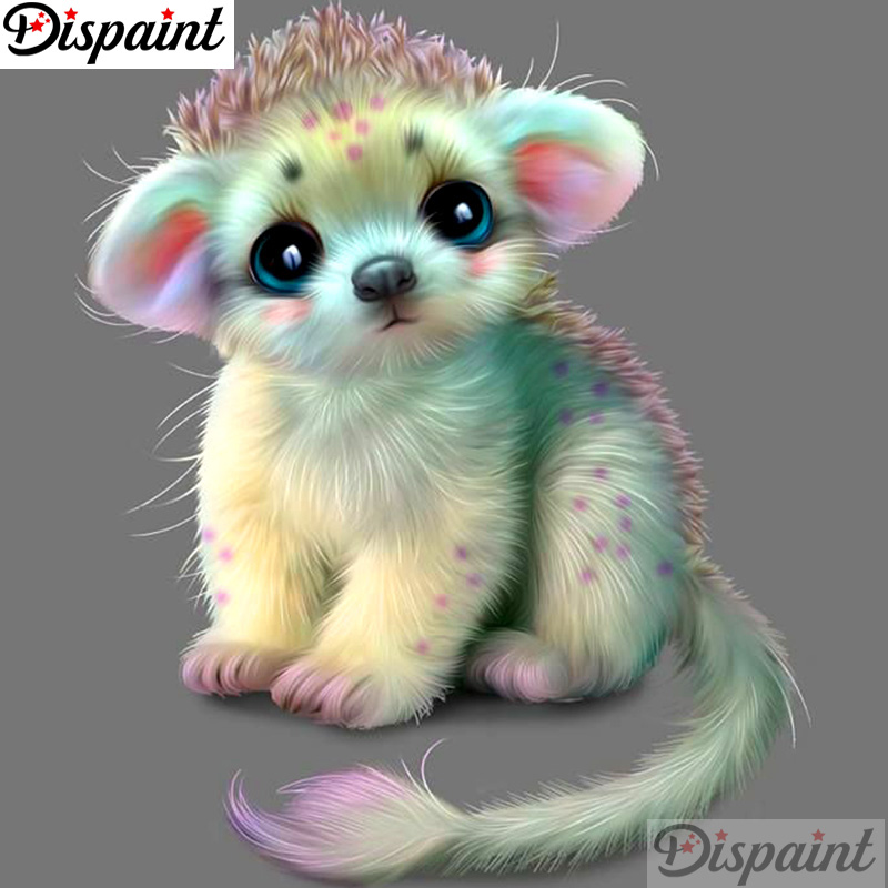 "Dispaint Full Square/Round Drill 5D DIY Diamond Painting ""Cartoon animal"" Embroidery Cross Stitch 3D Home"