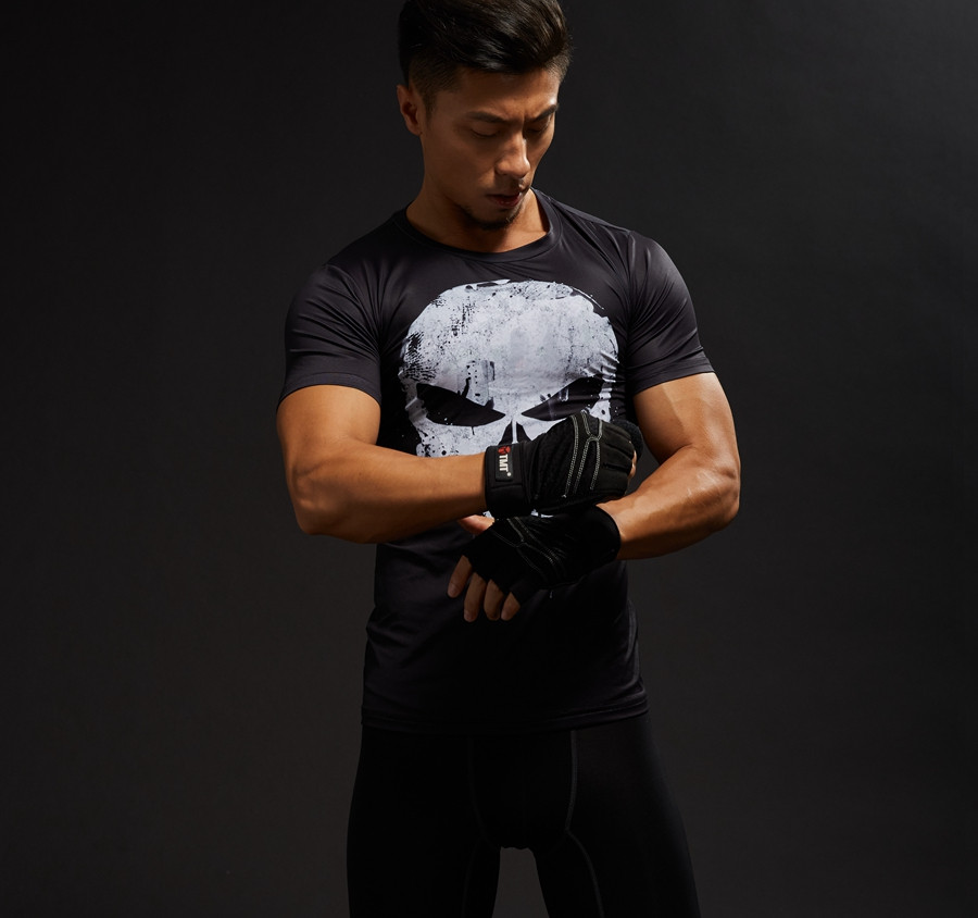 Punisher 3D Printed T-shirts Men Compression Shirts Long Sleeve Cosplay Costume crossfit fitness Clothing Tops Male Black Friday 5