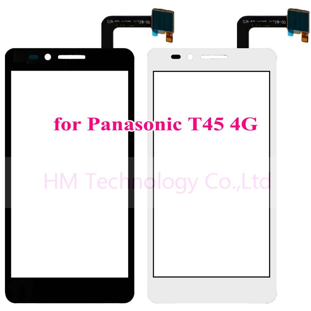 Black White TP for Panasonic T45 4G 4 5 Touch Screen Digitizer Glass Panel Sensor No