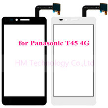 Black/White TP for Panasonic T45 4G /4.5″ Touch Screen Digitizer Glass Panel Sensor No LCD Phone Replacement Free Shipping+Tools