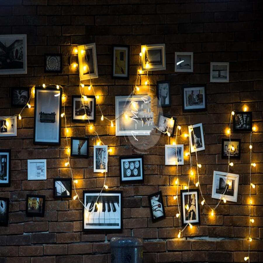1PC Νεράιδα 20μ 200 LED φωταερίου διακόσμηση Γκρίζα σφαίρα μπάλα σφαίρες Χριστούγεννα νέο έτος διακοπών γάμου λαμπτήρες luminarias