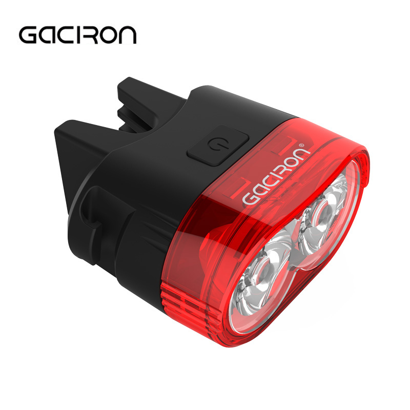 GACIRON 60 Lumens 2LED Smart Bicycle Tail Light USB Rechargeable MTB Road Bike Rear Light Night Safety Warning Cycling Lamp gaciron bicycle headlight rear light suite pack usb charge internal battery led front tail lamp cycling lighting visual warning