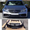 Hot sell W212 E200 E260 E63 AMG style PP Racing Auto Body Kits front rear bumper for Benz W212 E300 E63 14-15