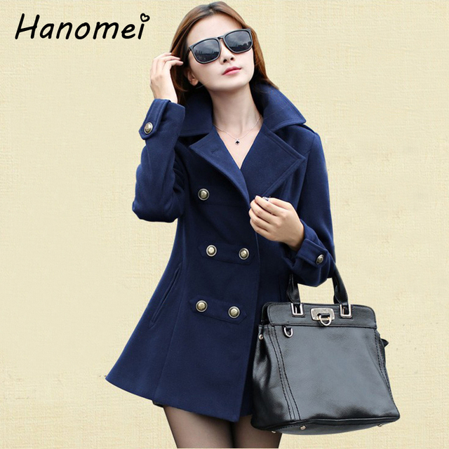 осень зима casacos femininos 2014 inverno двойной грудью пальто женское длинная шерсть смесей плащ для ёенщин красный/темно-синий пиджак 250