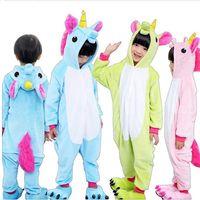 Girls Cute Unicorn Pajamas Warm Autumn Winter Homewear Unicornio Children S Pajamas Cartoon Animal Pajamas For