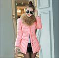 New Style Fashion Women Winter Coat Elegant Big fur collar Thick Warm Coat Slim Big yards Leisure Medium long Down jacket G2146