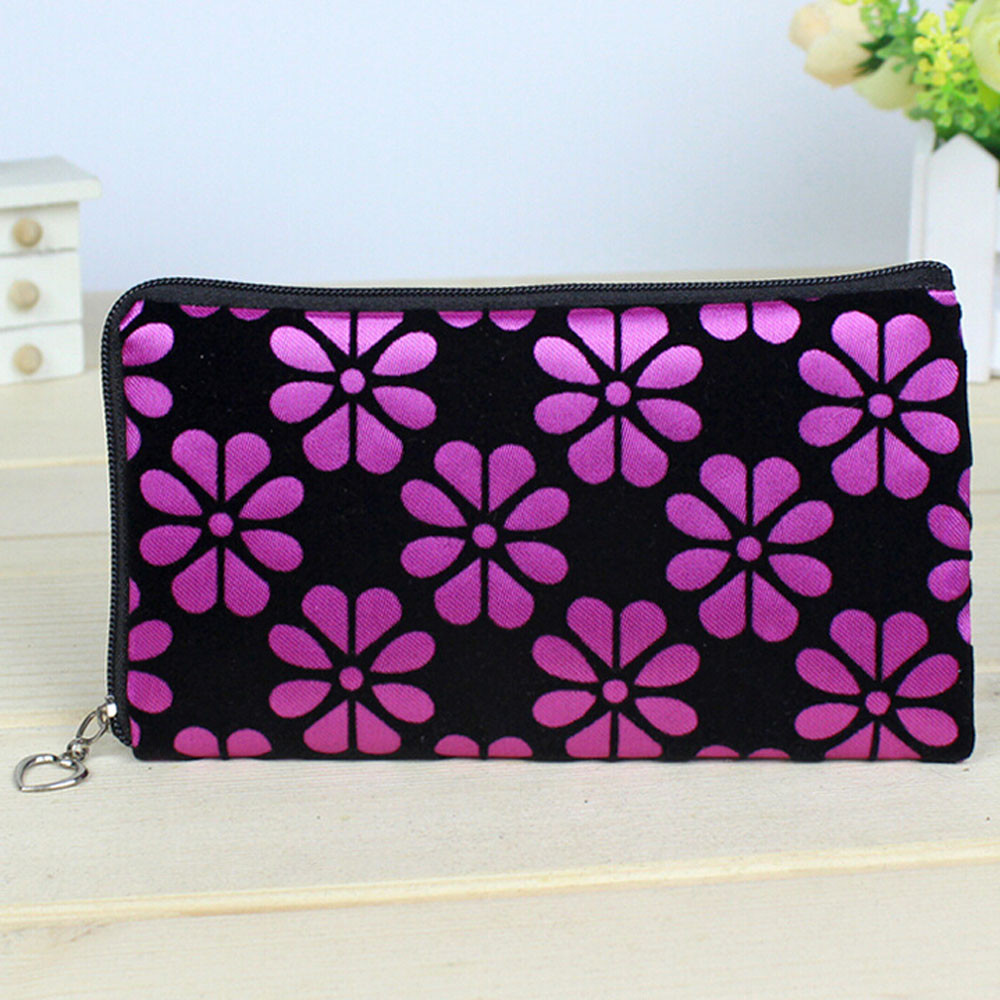 Women's Printed Zipper Wallet Purse Clutch Bag Female Fashion Casual Soft Square Coin Purse Light Trend Mobile Phone Key Case