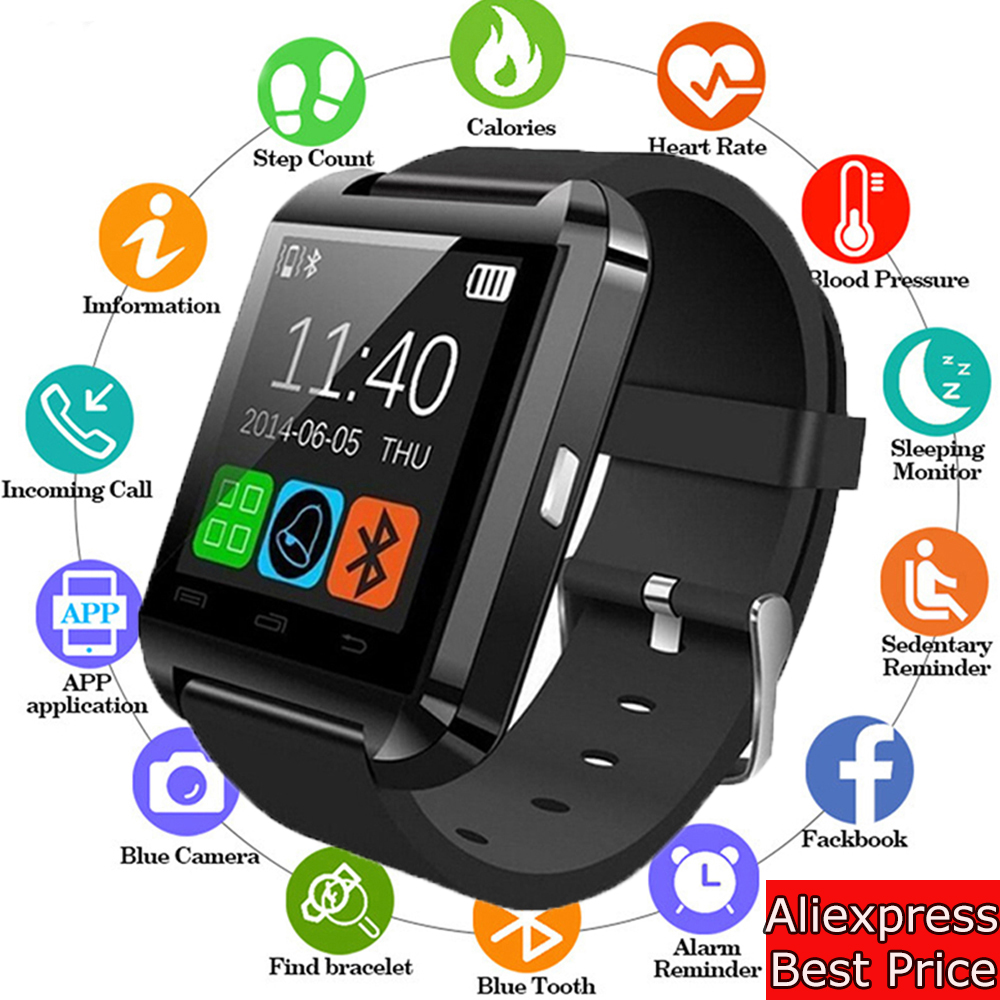Smart-Watch Barometer Sport-Clock Fitness Bluetooth Waterproof Wrist Android New U8