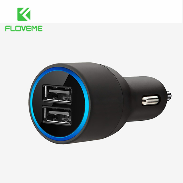 Floveme Universal Usb Car Charger For Iphone X 8 8 Plus Xiaomi Dual