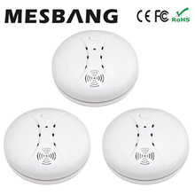 2017 wireless smoking detector smoke sensor wireless to GSM alarm system or separetely using free shippping