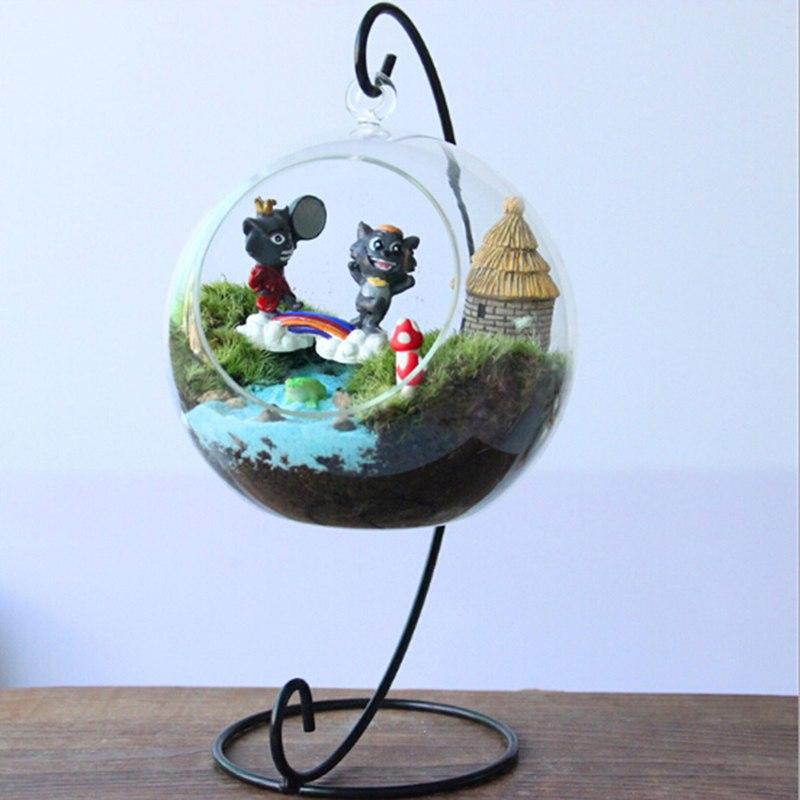 2 цвета кронштейн Подставка для украшения дома свадебный подсвечник стеклянный шар запутанная кукла висячая