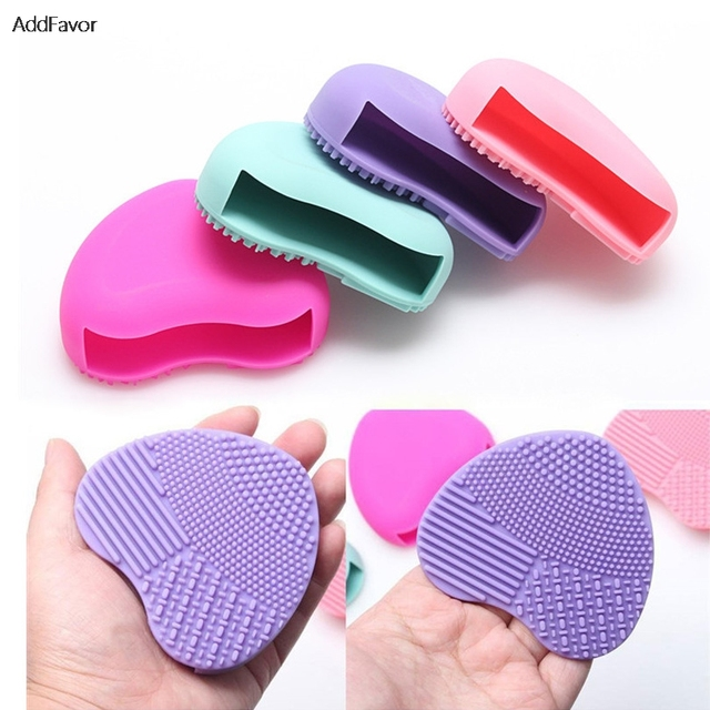 AddFavor Beauty Makeup Brush Cleaner Scrubber Egg Brush Cleaning Tool Beauty Makeup Powder Foundation Cosmetic Brush Kit