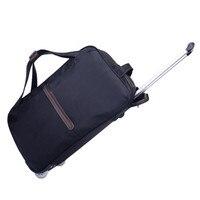 ファッション短い長距離トロリー旅行バッグ手荷物ローリング