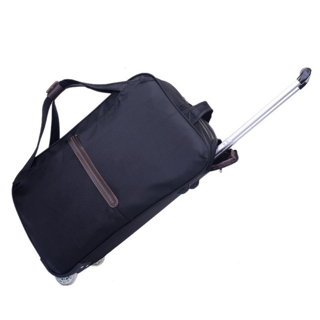 Fashion Short-distance Trolley Travel Bag Hand Luggage Rolling Duffel Bags Waterproof Oxford Travel Suitcase Unisex small size