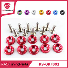 10 Pcs/Pack JDM Style Aluminum Fender Washers and Bolt for Honda Civic Integra RSX EK EG DC (RS-QRF002)
